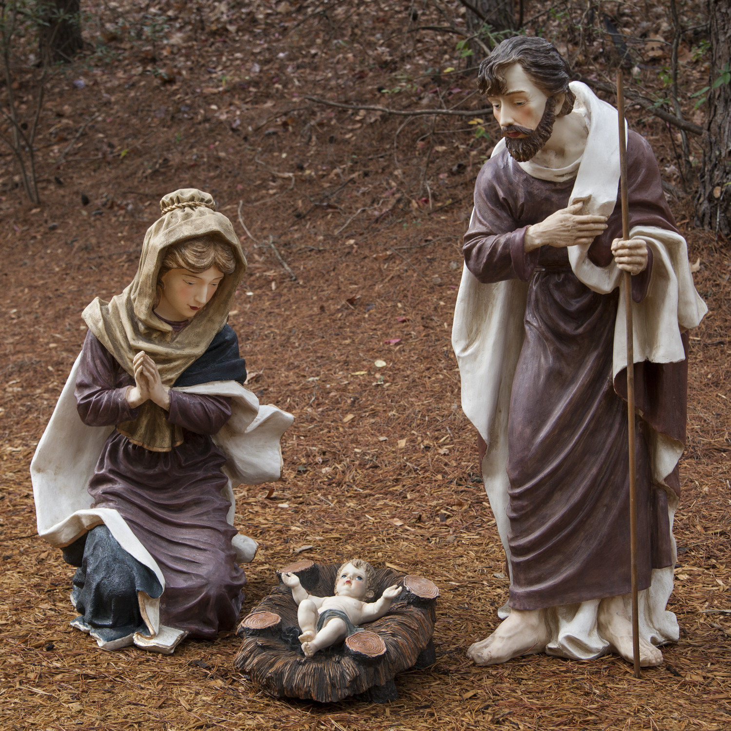 Three piece nativity sets Mary joseph jesus happy family for christmas decoration ideas