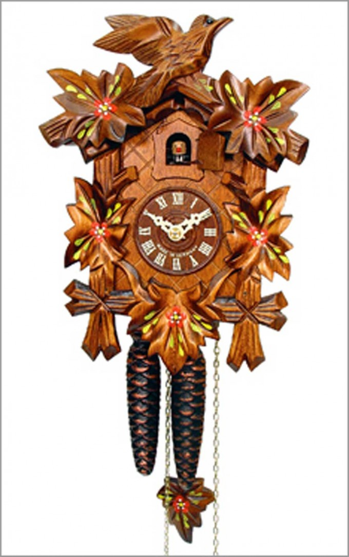 Unique Nature Cuckoo Clock Made Of Wood In Brown For Home Furniture Ideas
