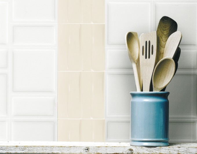 Up And Down Brite White Down Wall Tile By Interceramic Tile For Kitchen Decor Ideas