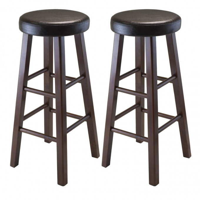 Winsome 29 Inch Square Leg Cymax Bar Stools In Brown For Home Furniture Ideas