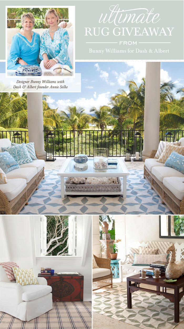 wonderful blue white Dash And Albert Rugs and rattan sofa with white cushion seat for living room decor ideas