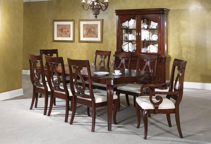 Wonderful Brown Wooden Dining Chairs With White Seat And Wooden Dining Table By Broyhill Furniture For Dining Room Furniture Ideas