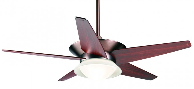 Wonderful Casablanca Ceiling Fans In Brown And Five Wooden Blade Slinger With Single Lamp For Awesome Ceiling Furniture Ideas