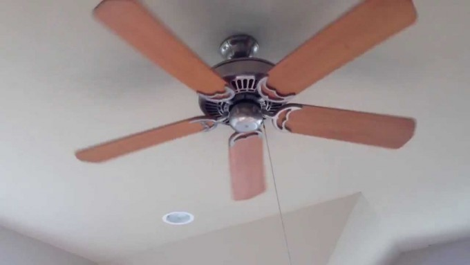 Wonderful Casablanca Ceiling Fans In Five Brown Wooden Blade Slinger On White Ceiling For Home Decoration Ideas