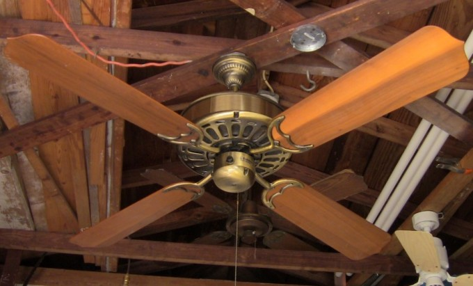 Wonderful Casablanca Ceiling Fans In Four Brown Wooden Blade Slinger For Chic Ceiling Decor Ideas