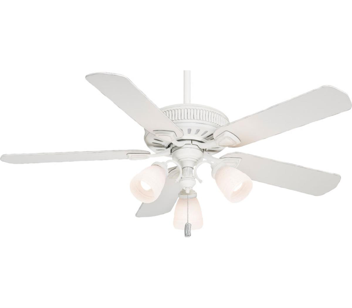 wonderful Casablanca Ceiling Fans in white and five blade slinger with triple lights for chic ceiling decor ideas