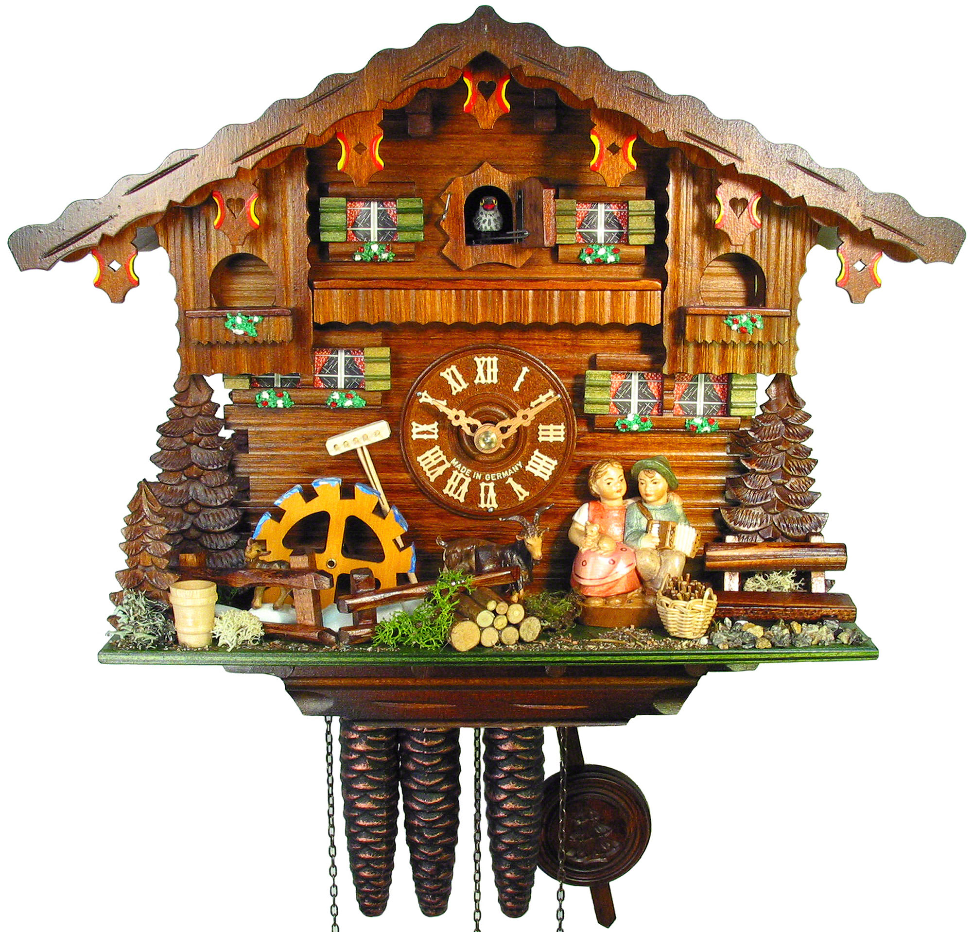 wonderful cuckoo clock in brown made of wood with home design for home accessories ideas