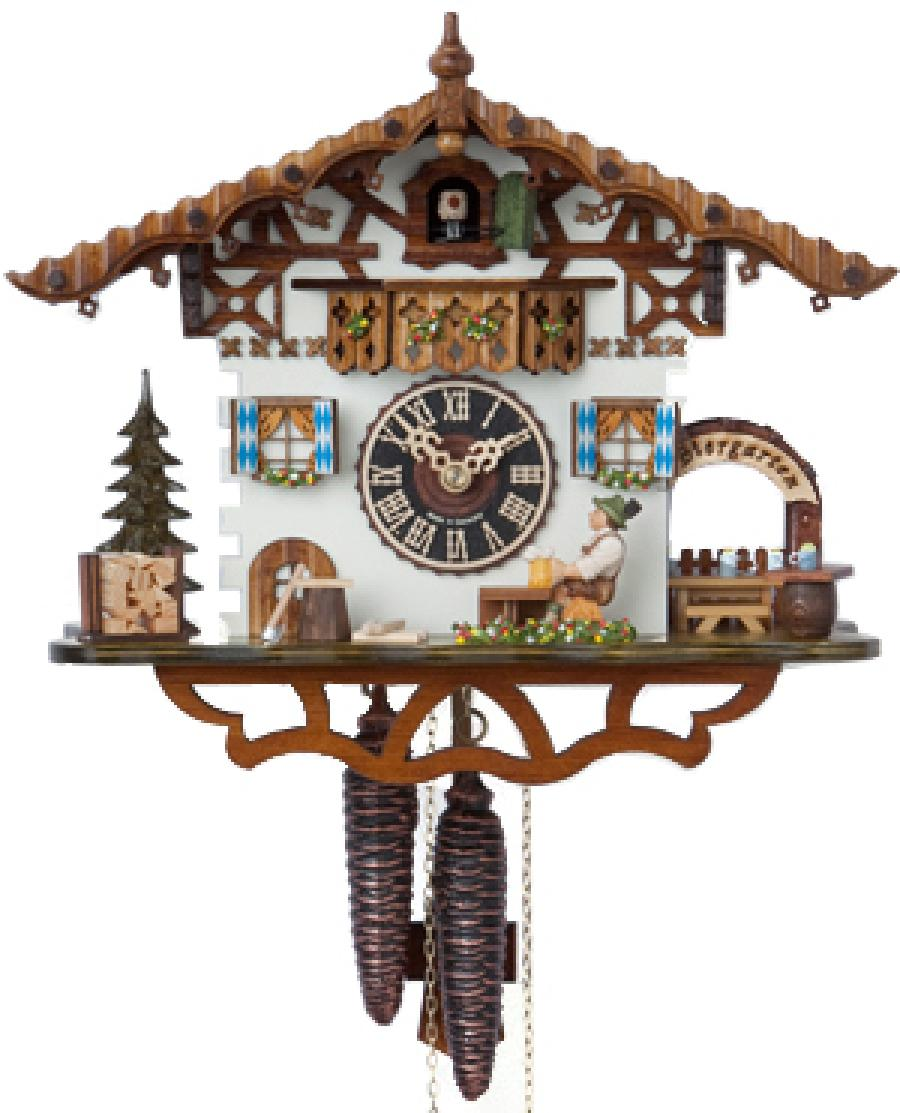 wonderful cuckoo clock in white home with brown roof design for home accessories ideas