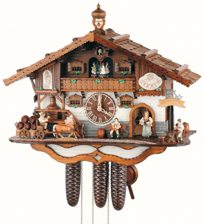 Wonderful Cuckoo Clock Made Of Wood In Home Design For Home Accessories Ideas