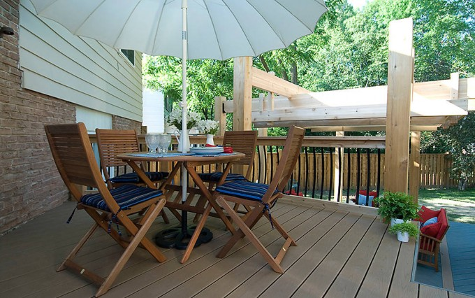 Wonderful DECKING IN BEACH DUNE AND CLAM SHELL For Standard Trex Decking Cost Ideas