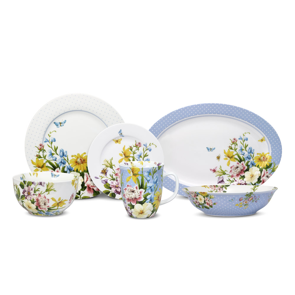 wonderful dinnerware by pfaltzgraff in floral motif for lovely dinnerware ideas