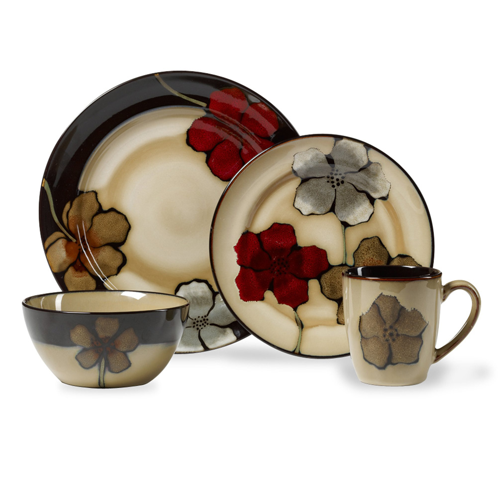 wonderful dinnerware set in floral pattern by pfaltzgraff for lovely dinnerware ideas
