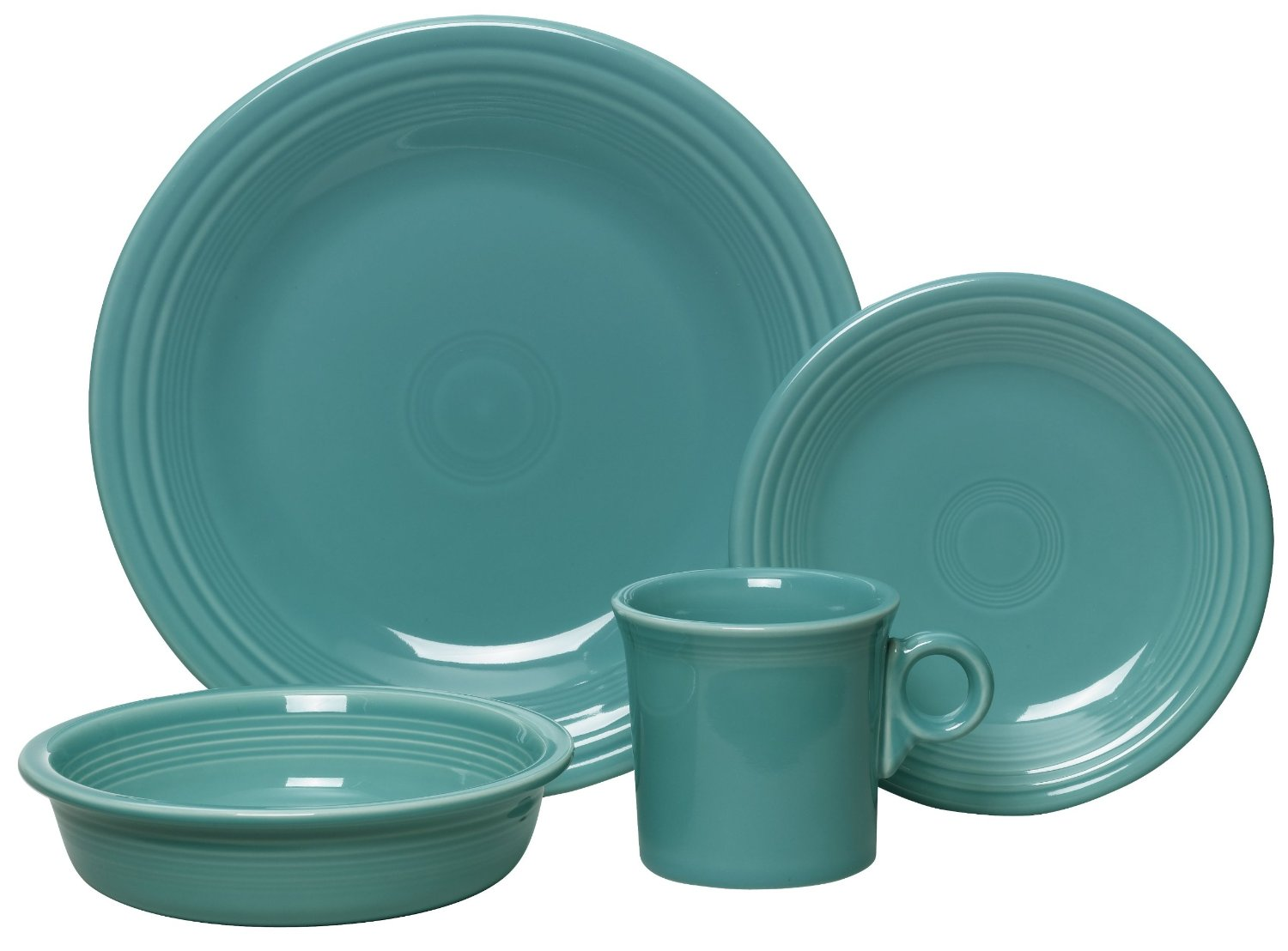 wonderful dinnerware set in turquoise theme by fiestaware for dinner ideas