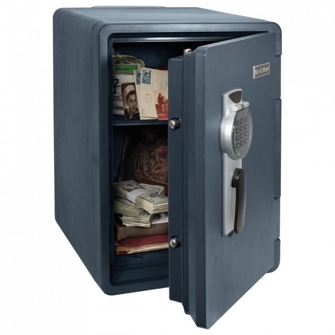 Wonderful Fireproof File Cabinet In Navy With Digital Lock For Safety Data Ideas