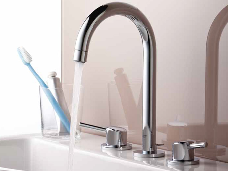 wonderful grohe faucets in silver with double handle for kitchen furniture ideas