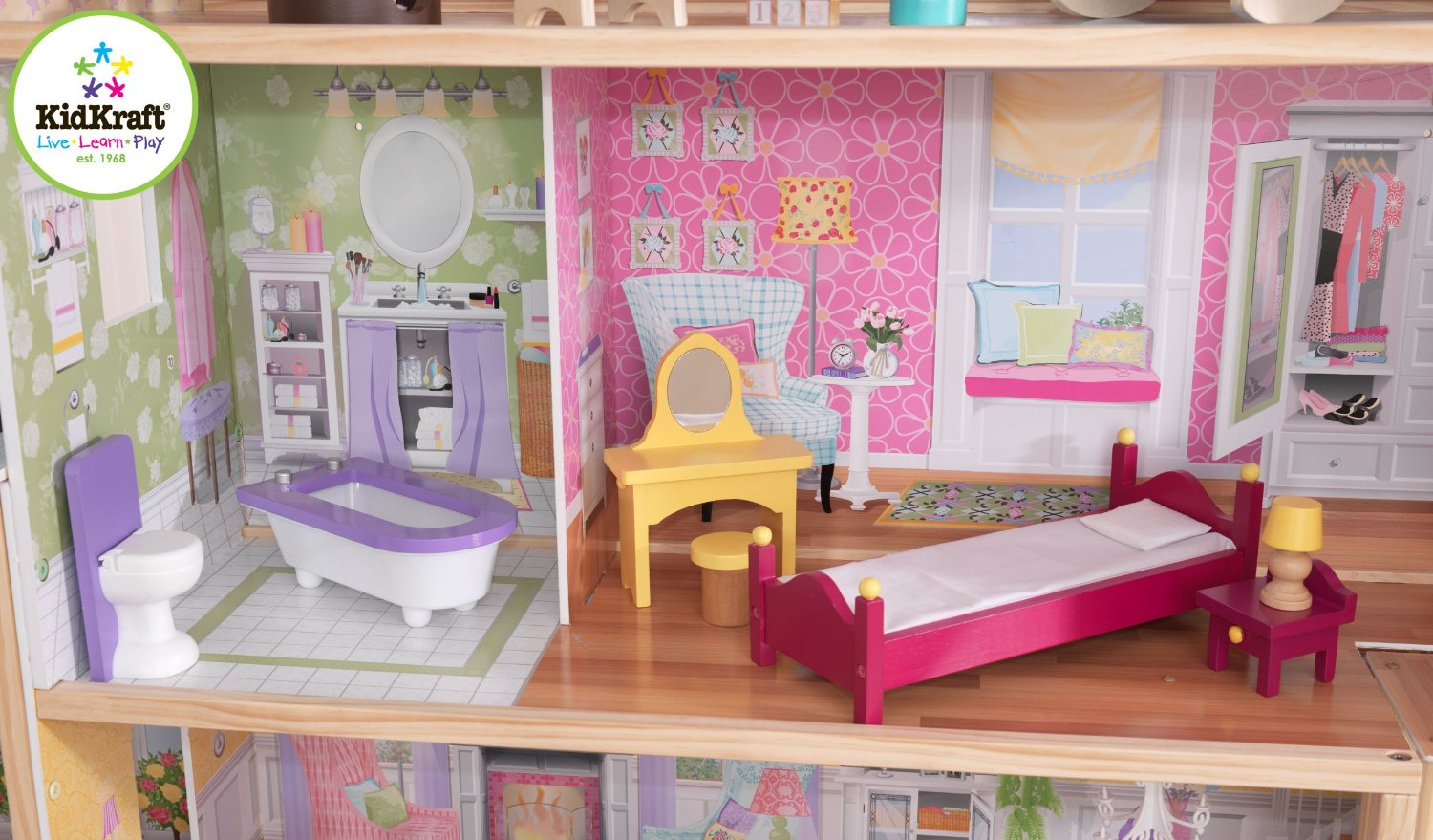 Lovely Kidkraft Majestic Mansion Dollhouse 65252 For Kids Play Room Furniture Ideas: Wonderful Kidkraft Majestic Mansion Dollhouse 65252 Made Of Wood For Kids Room Furniture Ideas