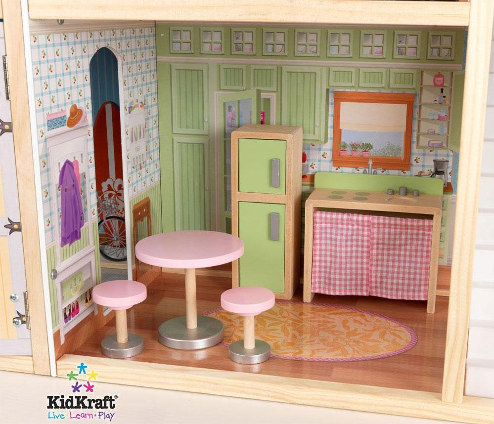 Lovely Kidkraft Majestic Mansion Dollhouse 65252 For Kids Play Room Furniture Ideas: Wonderful Kidkraft Majestic Mansion Dollhouse 65252 Made Of Wood In Green Theme For Kids Room Furniture Ideas