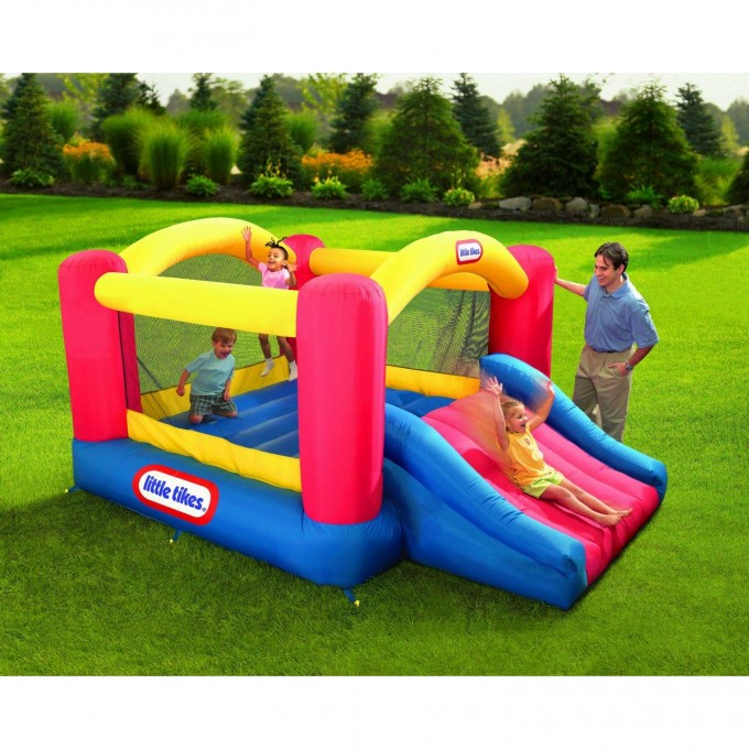 Wonderful Little Tikes Bounce House Made Of Caoutchouc With Jump Slide For Play Yard Ideas