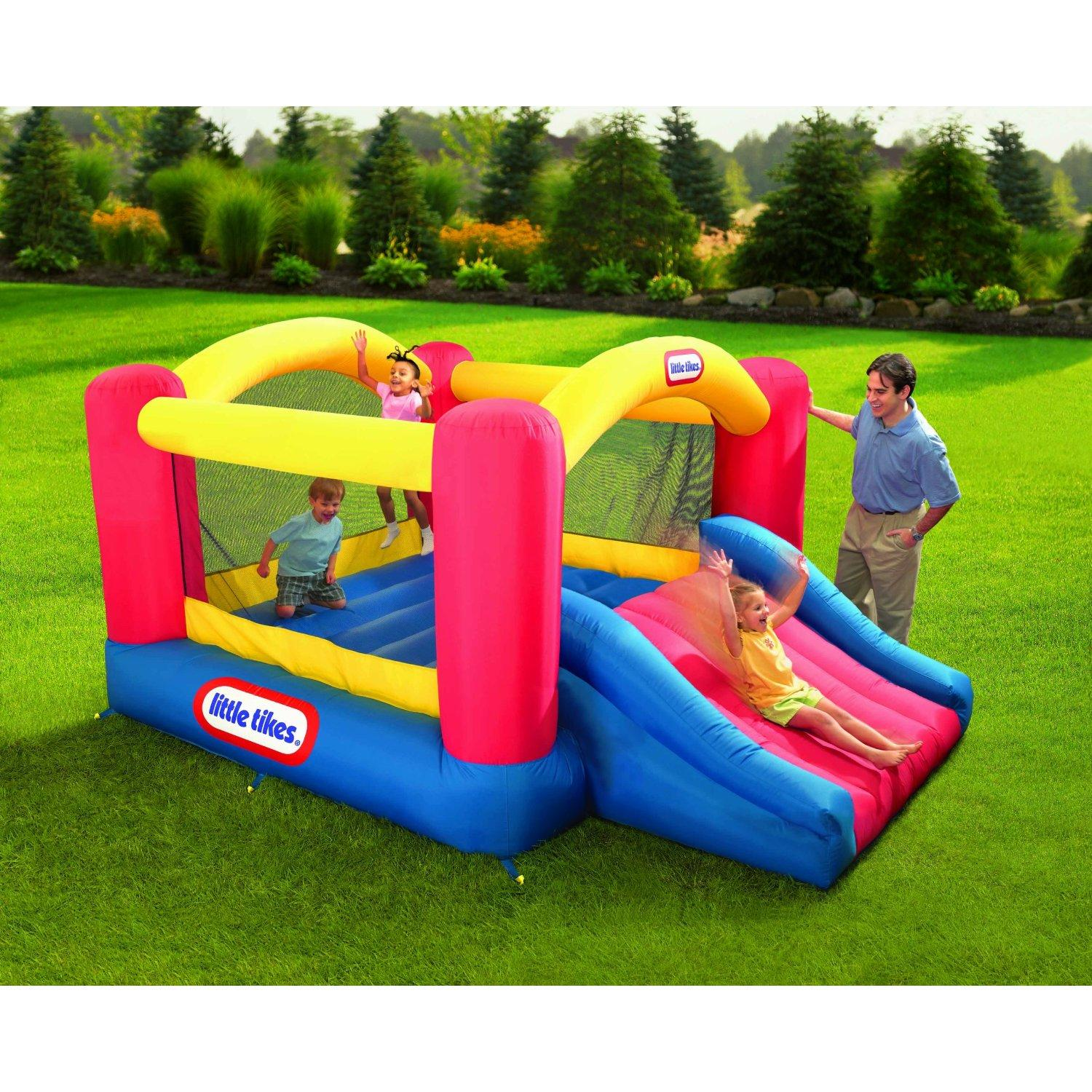 Fancy Little Tikes Bounce House For Play Yard Ideas: Wonderful Little Tikes Bounce House Made Of Caoutchouc With Jump Slide For Play Yard Ideas