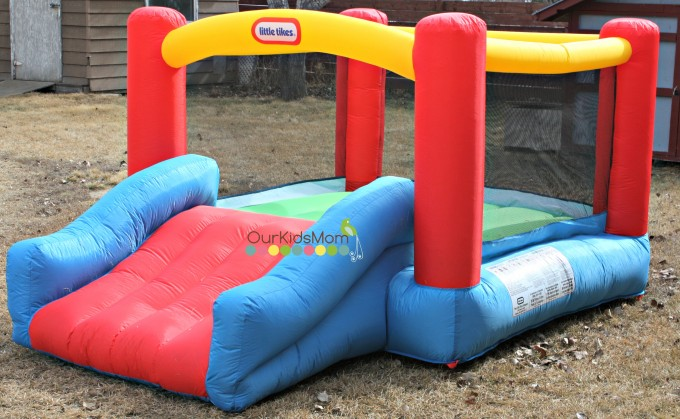 Wonderful Little Tikes Bounce House Made Of Caoutchouc With Single Slide For Play Yard Ideas