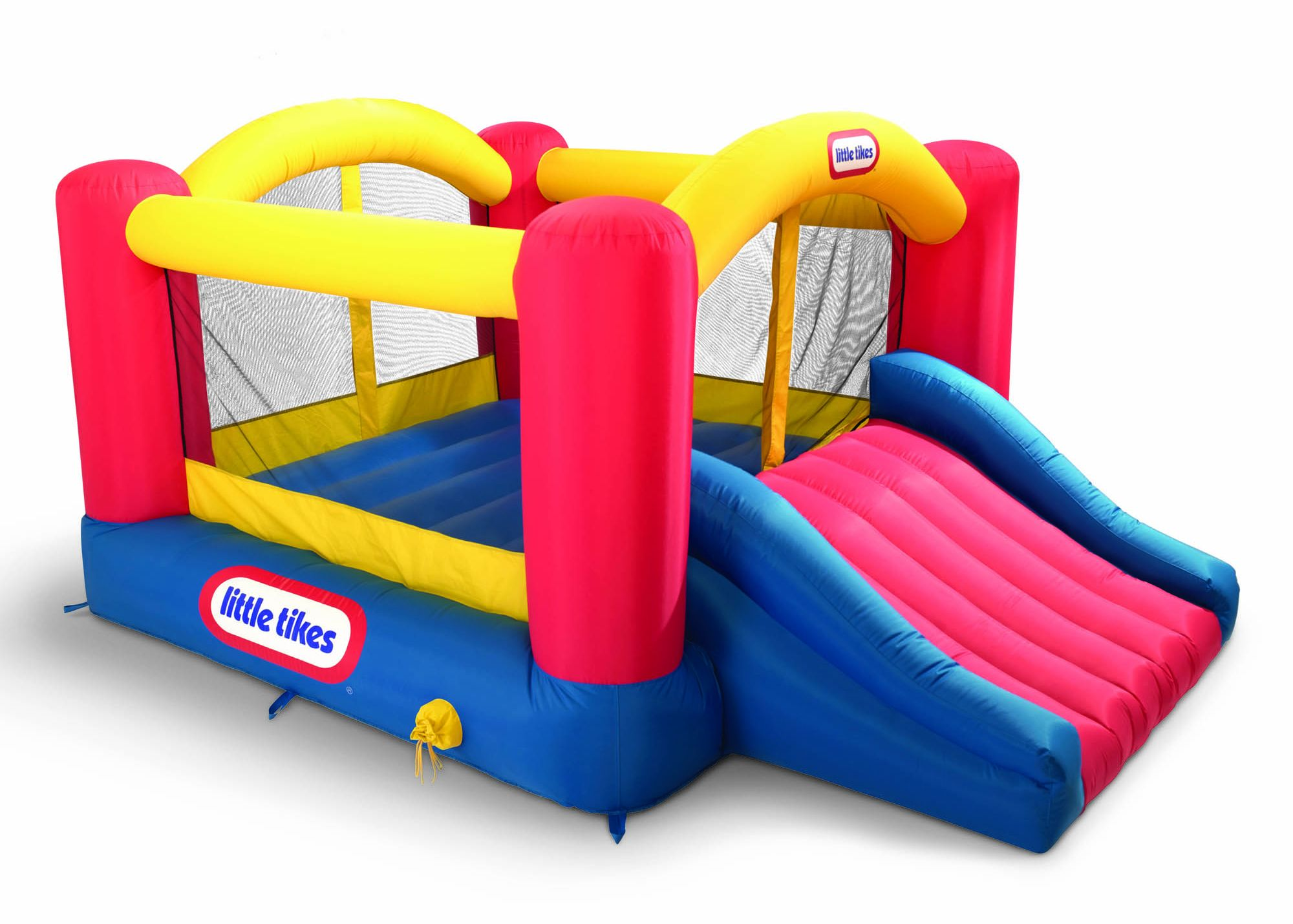 Fancy Little Tikes Bounce House For Play Yard Ideas: Wonderful Little Tikes Bounce House Made Of Caoutchouc With Slide And Curtain For Kids Play Room Ideas