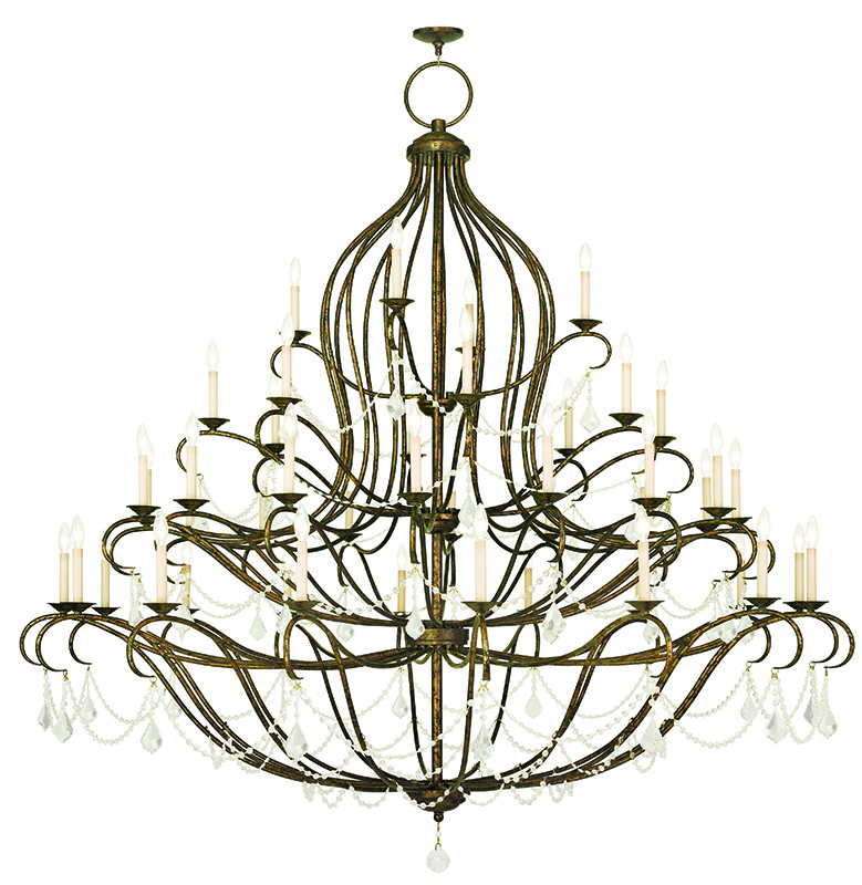 Wonderful Livex Lighting Four Tier Chandelier For Home Lighting Ideas