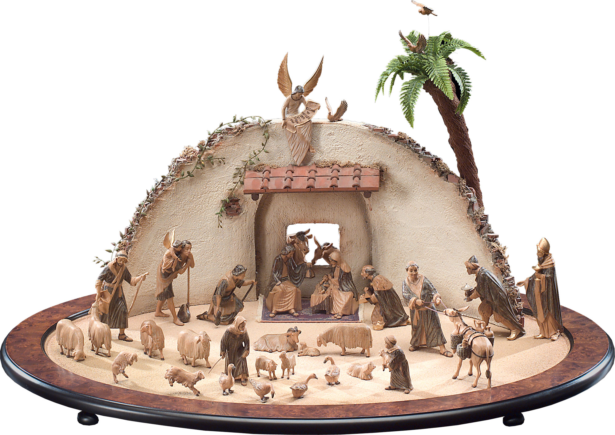 Chic Nativity Sets For Christmas Decoration Ideas: Wonderful Nativity Sets With Animals For Christmas Decoration Ideas