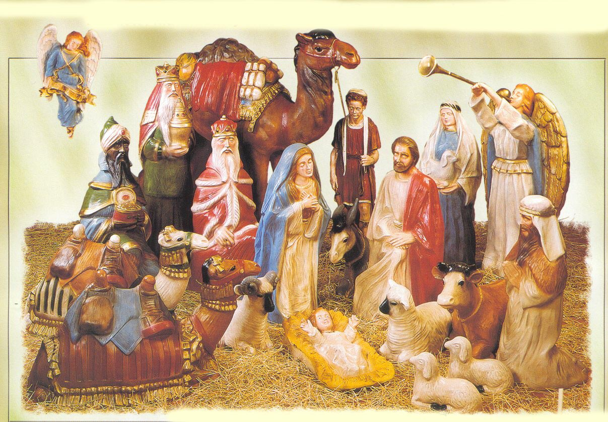 wonderful nativity sets with animals for christmas decoration ideas
