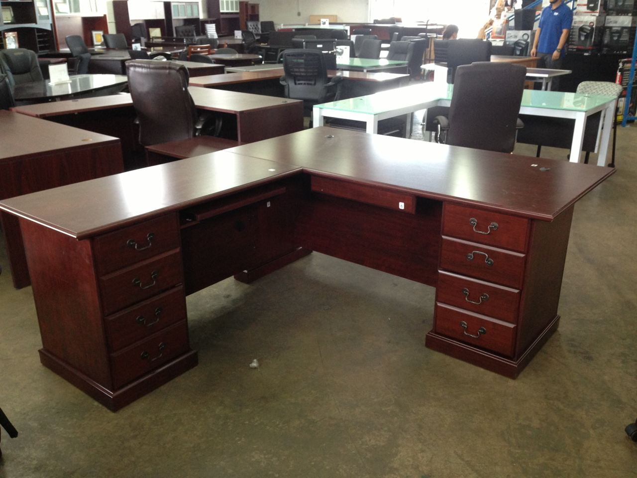 wonderful natural brown wood l shaped desk by sauder furniture for home office furniture ideas