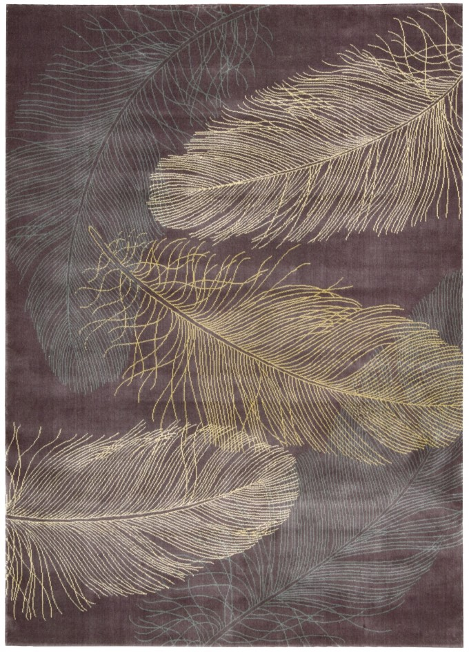 Wonderful Parallels Lavender Feather Rug By Nourison Rugs For Floor Decor Ideas