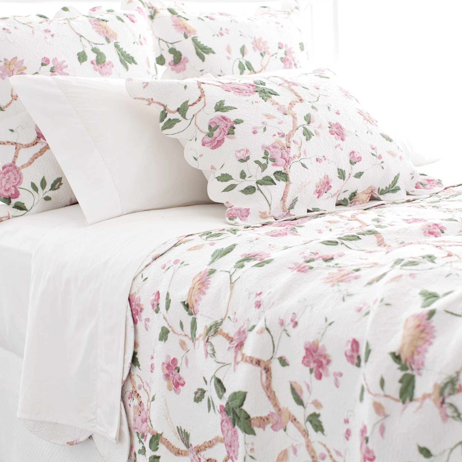 Wonderful Pine Cone Hill Bedding In Floral Pattern For Lovely Bed Ideas