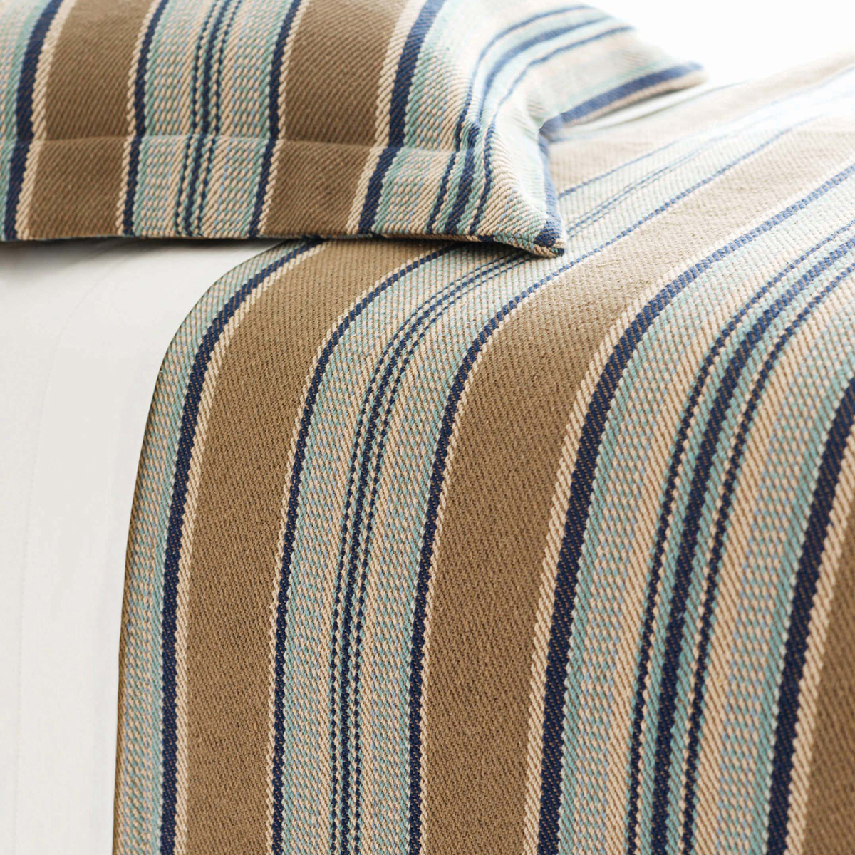 Wonderful Pine Cone Hill Whitney With Dash Stripe In Slate For Charming Bedding Ideas