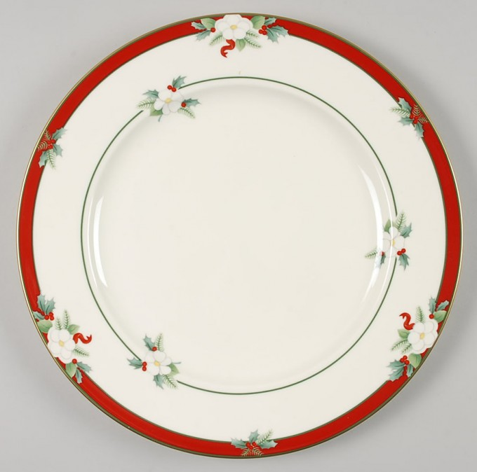 Wonderful Plate In White And Red With Floral Pattern By Pfaltzgraff For Lovely Dinnerware Ideas