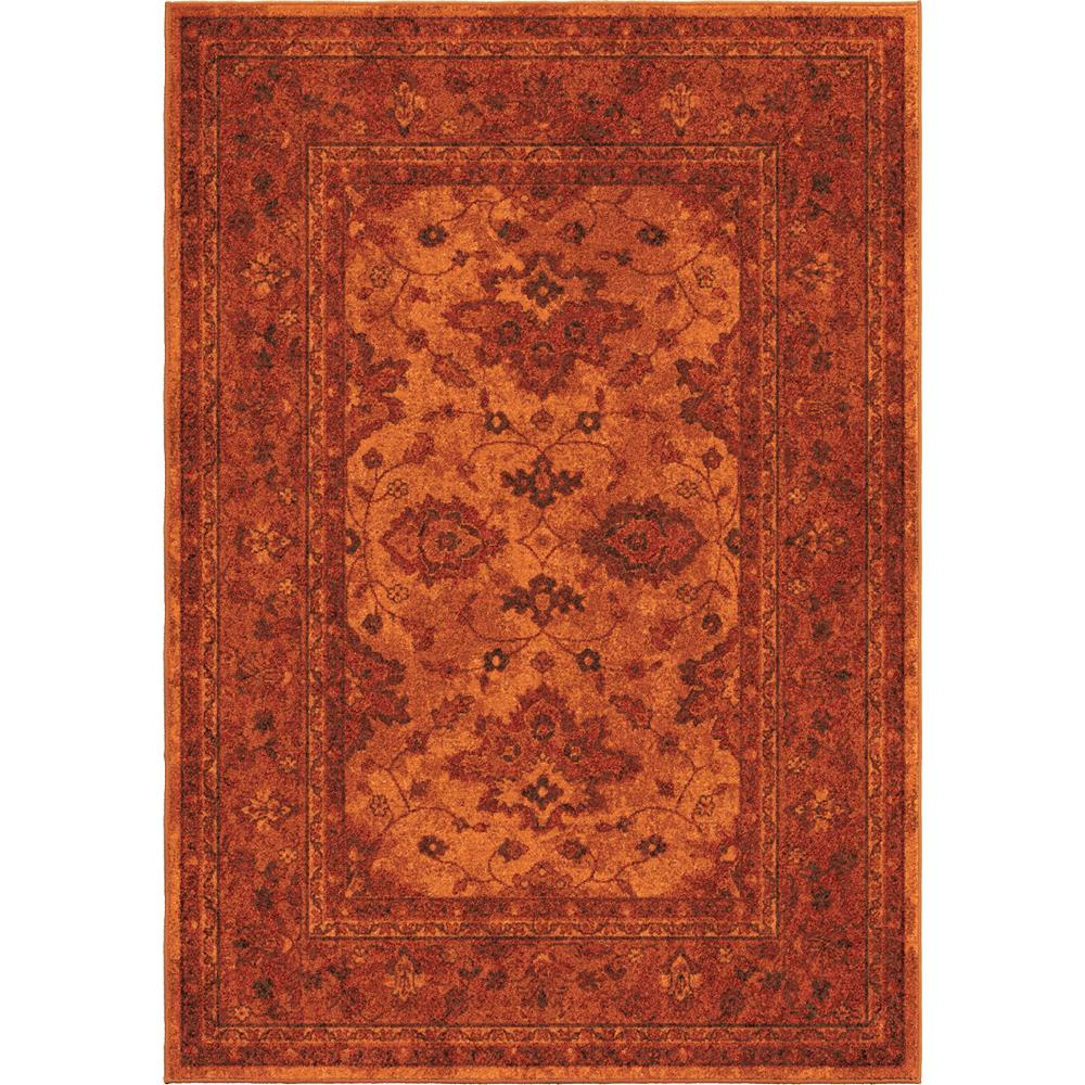 wonderful rectangle orian rugs in orange floral pattern for floor decor ideas