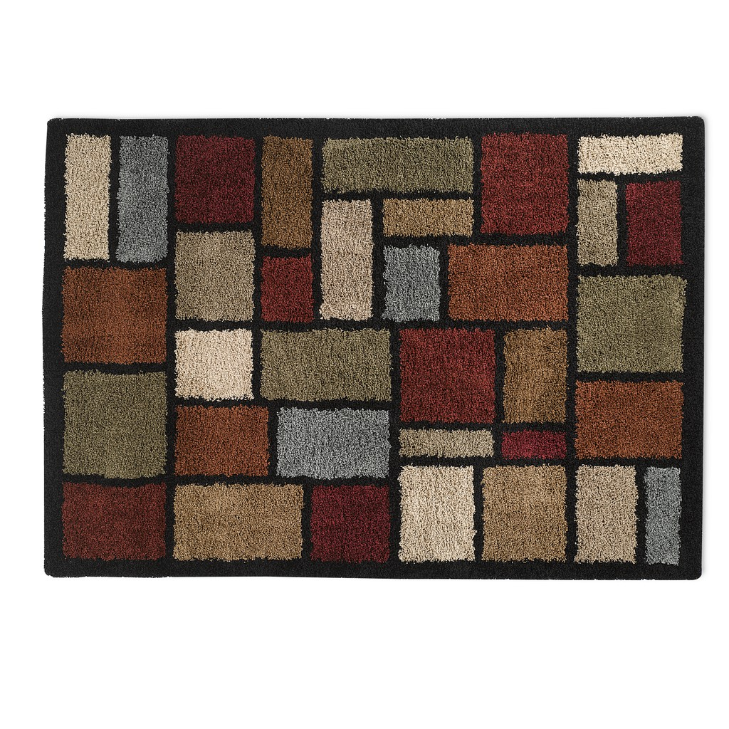 wonderful shag rug in rectangle shape with checked motif by orian rugs for floor decor ideas