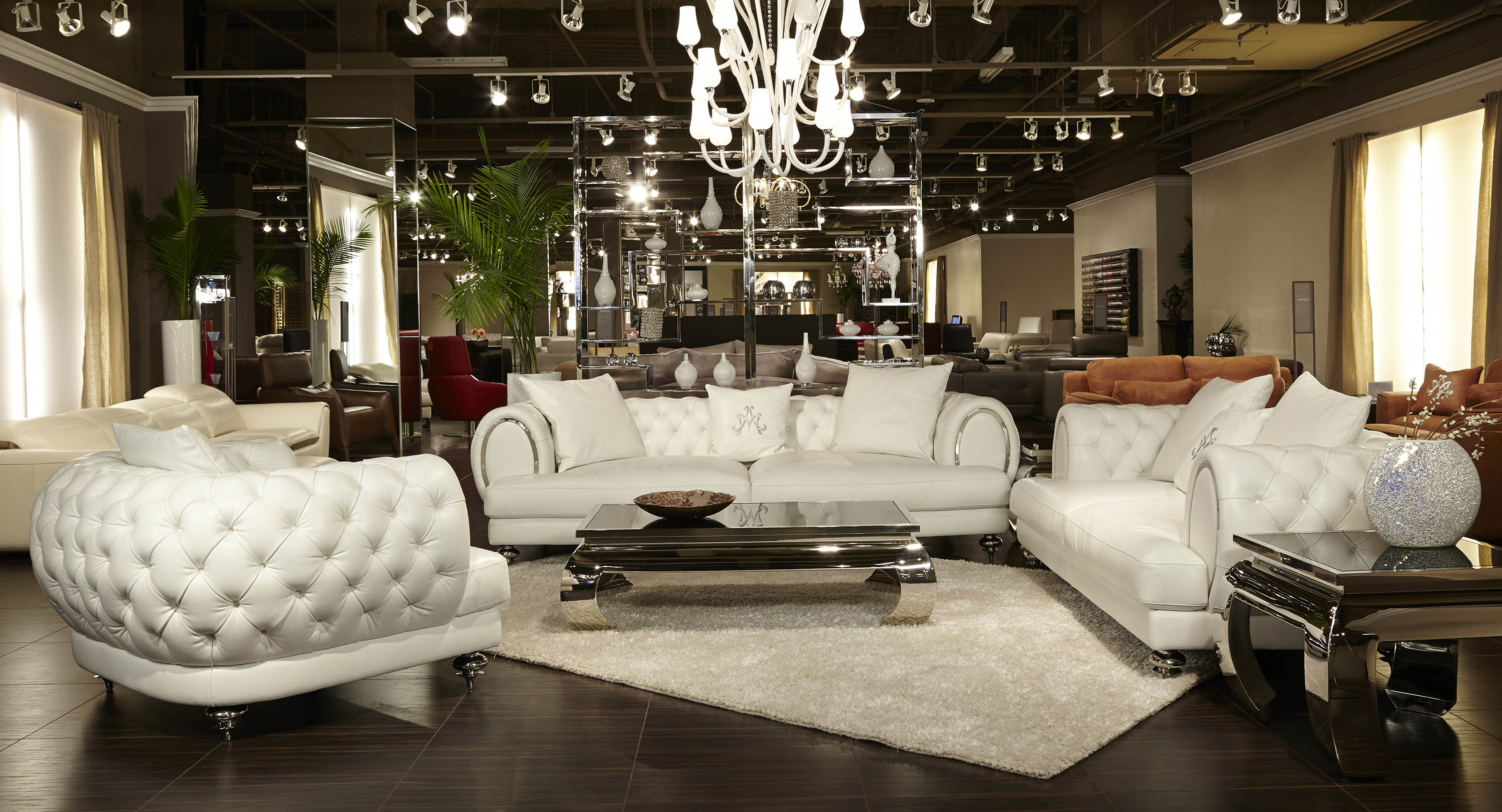 wonderful sofa in white by aico furniture for sale