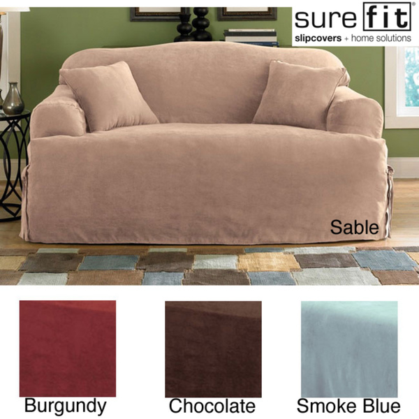 wonderful sofa with surefit slipcover in sable for living room decor ideas