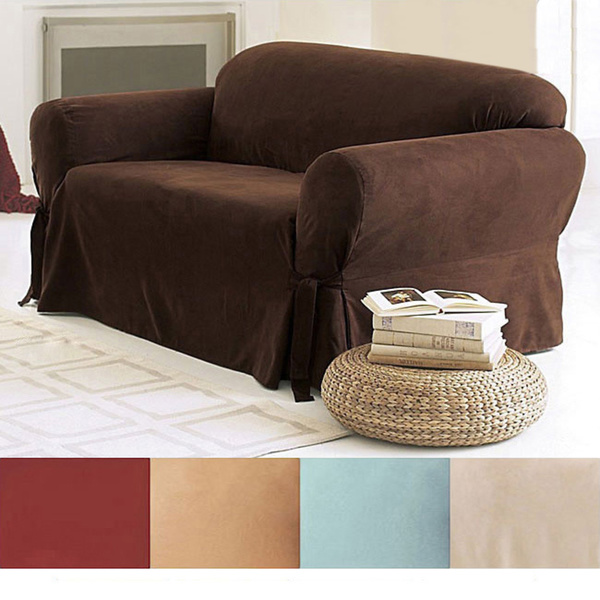 wonderful surefit smooth suede washable sofa slipcover for more beautiful sofa ideas