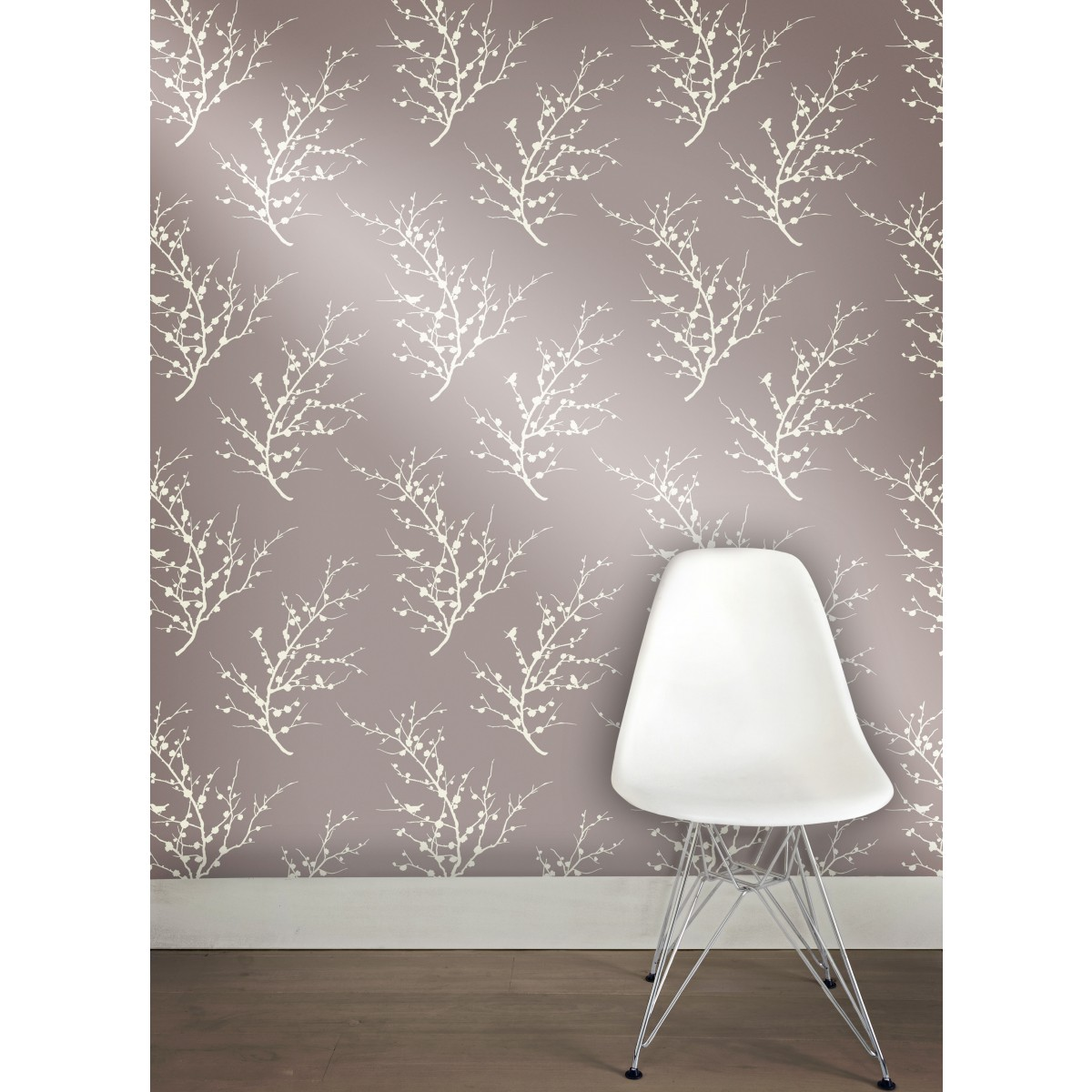 wonderful Tempaper Wallpaper edie champagne in gray matched with wooden floor for living room decor ideas