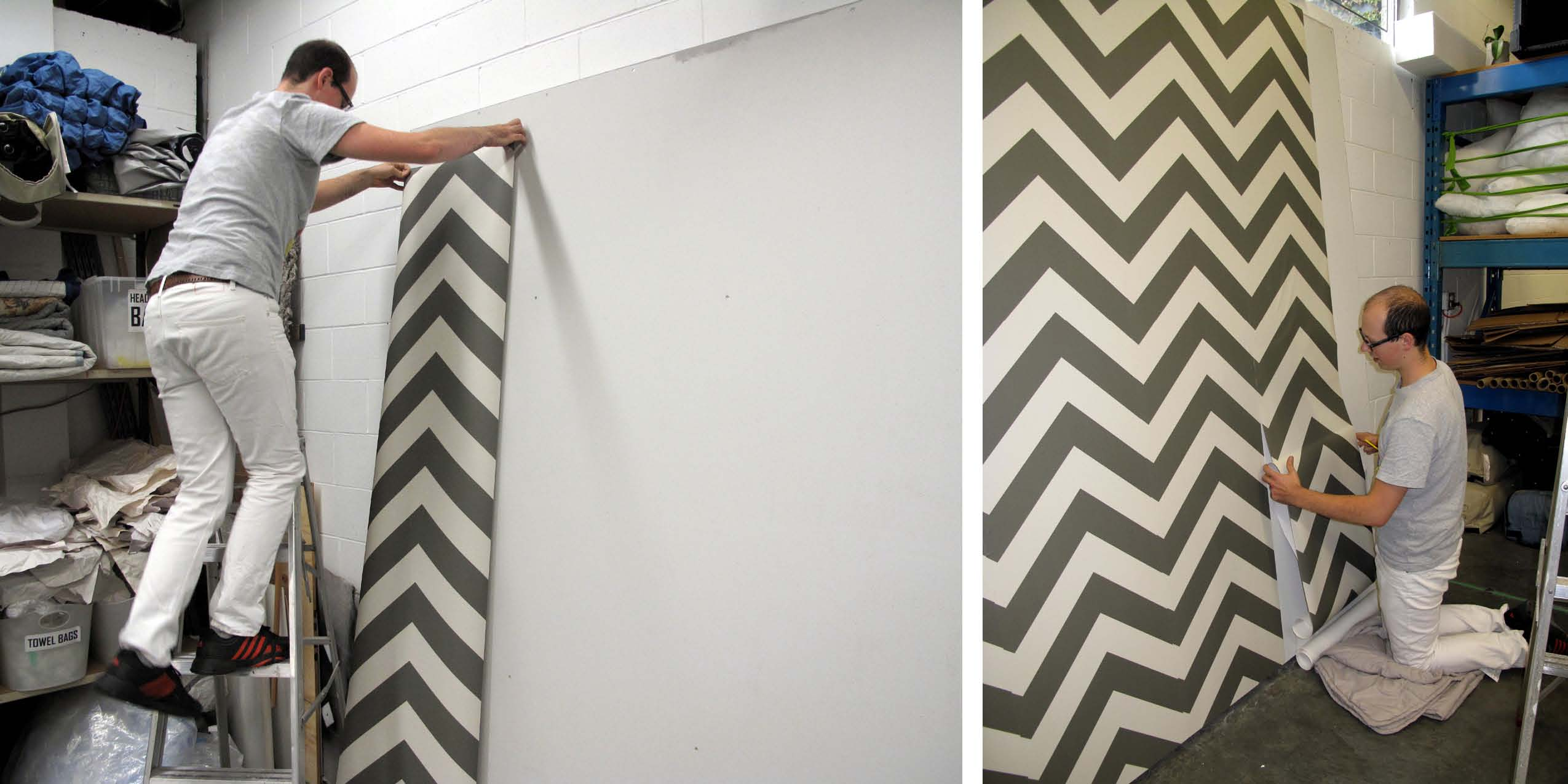 wonderful tempaper wallpaper in chevron pattern for chic wall decor ideas