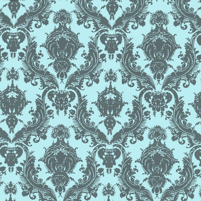 Wonderful Tempaper Wallpaper In Turquoise And Floral Pattern For Wall Decor Ideas