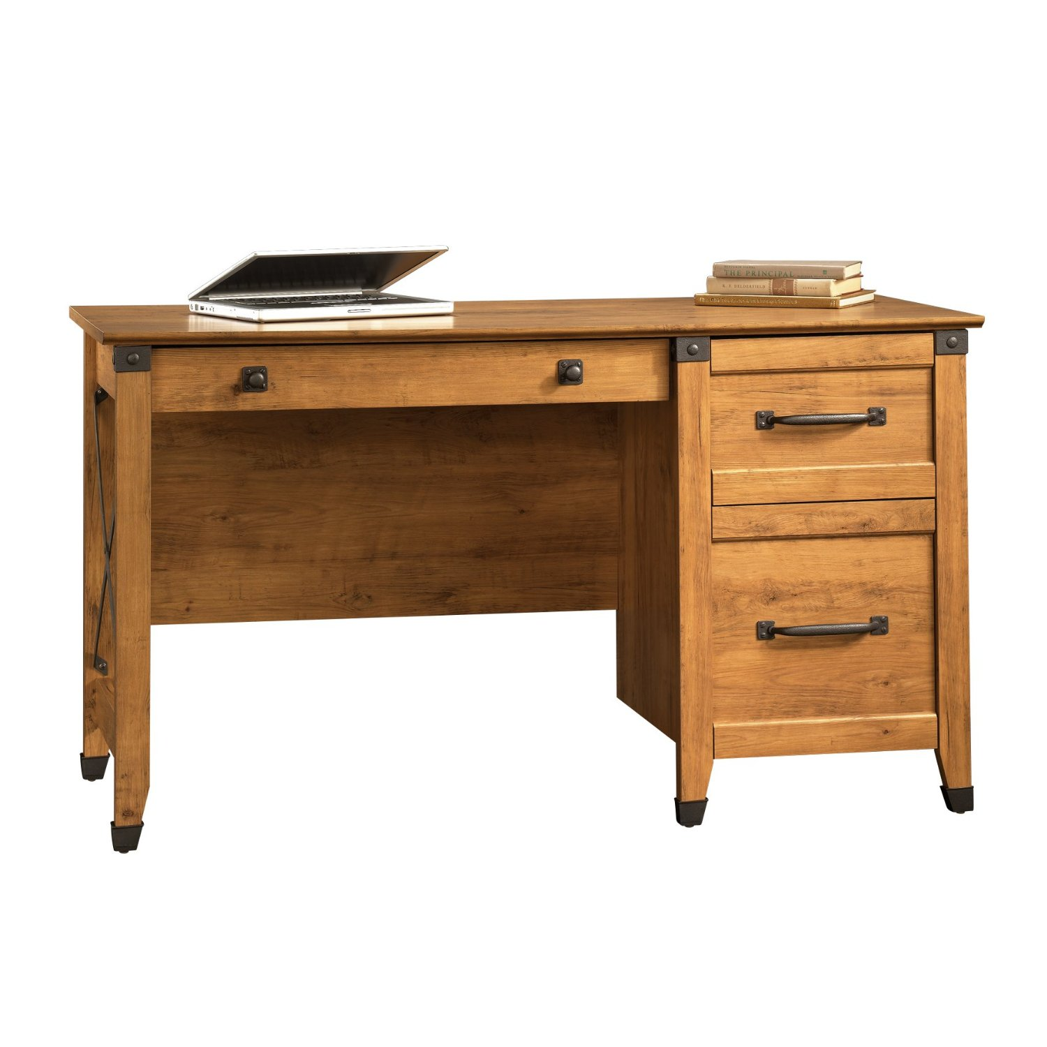 wonderful wooden desk with dark handle by sauder furniture for home office furniture ideas