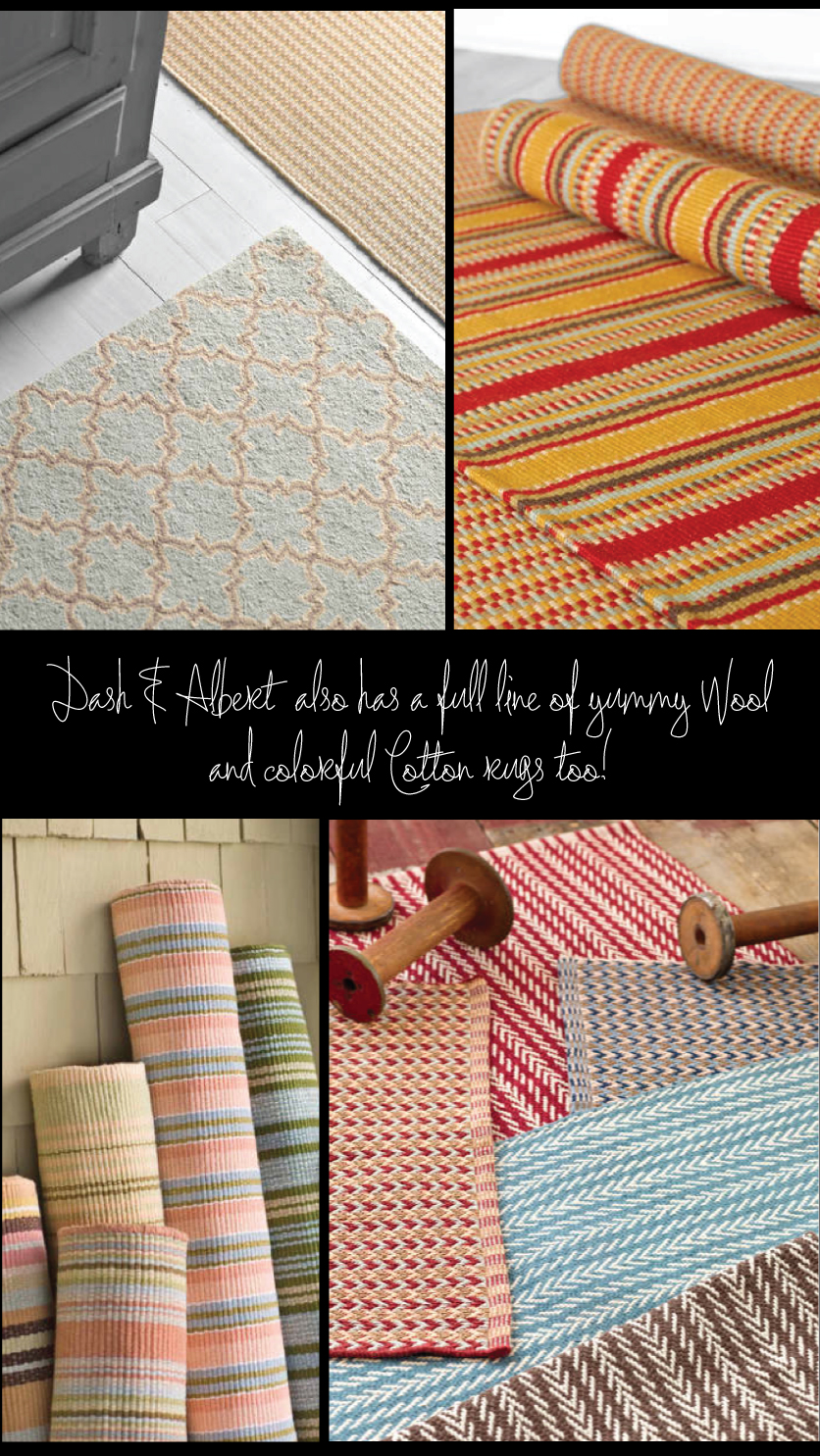 Wool and Cotton Dash And Albert Rugs for floor cover ideas